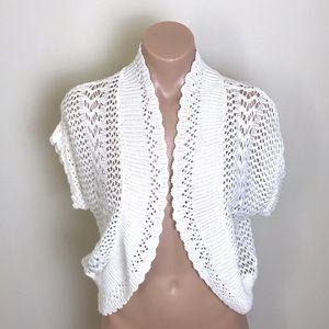 New Directions | White Cream Crochet Cardigan